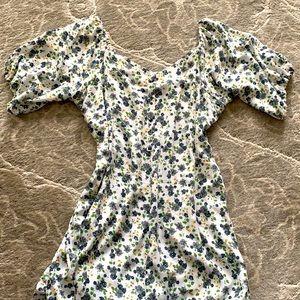 Handmade Women's Floral Puff Sleeve Dress
